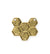 26x23mm, Honeycomb - 14K Gold Antique Plated (3pcs)