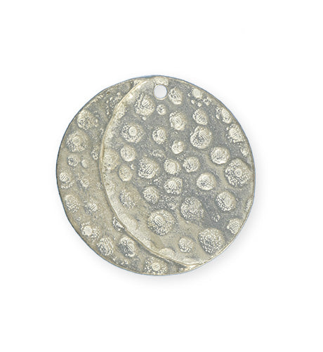 32mm, Moon Phase - Artisan Pewter (3pcs)