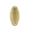 32.5x15.5mm Two Hole Oval Blank (5 pcs)