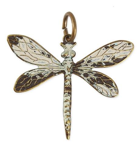 35x30mm Queen Dragonfly - Natural Brass (8 pcs)
