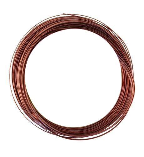 Artisan Copper Half Round Wire 21 GA (21 ft)