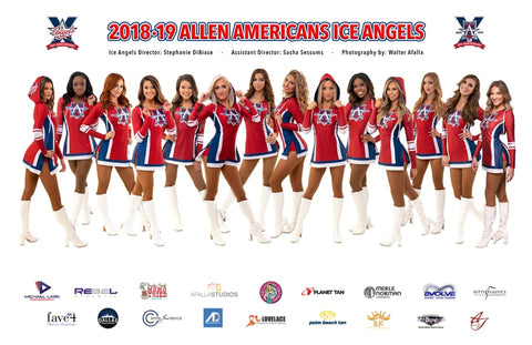 Allen Americans Ice Angels, Professional Dancers, Professional cheerleaders, pro dance, pro cheer