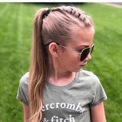 The Braided Pony by @kidhairstyles