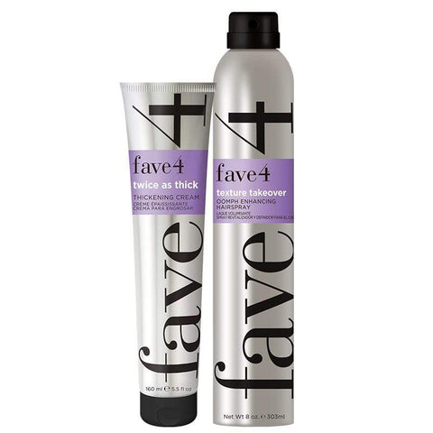 Big Hair Pair for volume, thickening and lift. Perfect for fine hair.