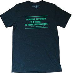 Injustice-Black Speckled Tee