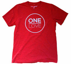 One Love -Red Speckled Tee