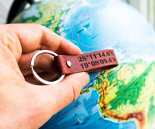 Load image into Gallery viewer, Your Favorite Place Coordinates Keyring - StayRealCrafts