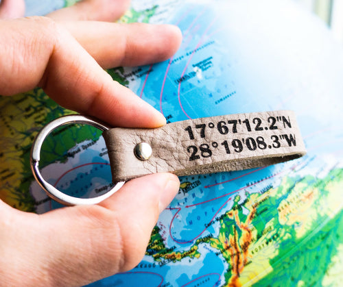 Your Favorite Place Coordinates Keyring - StayRealCrafts