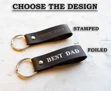 Load image into Gallery viewer, Custom Name Leather Keychain - StayRealCrafts