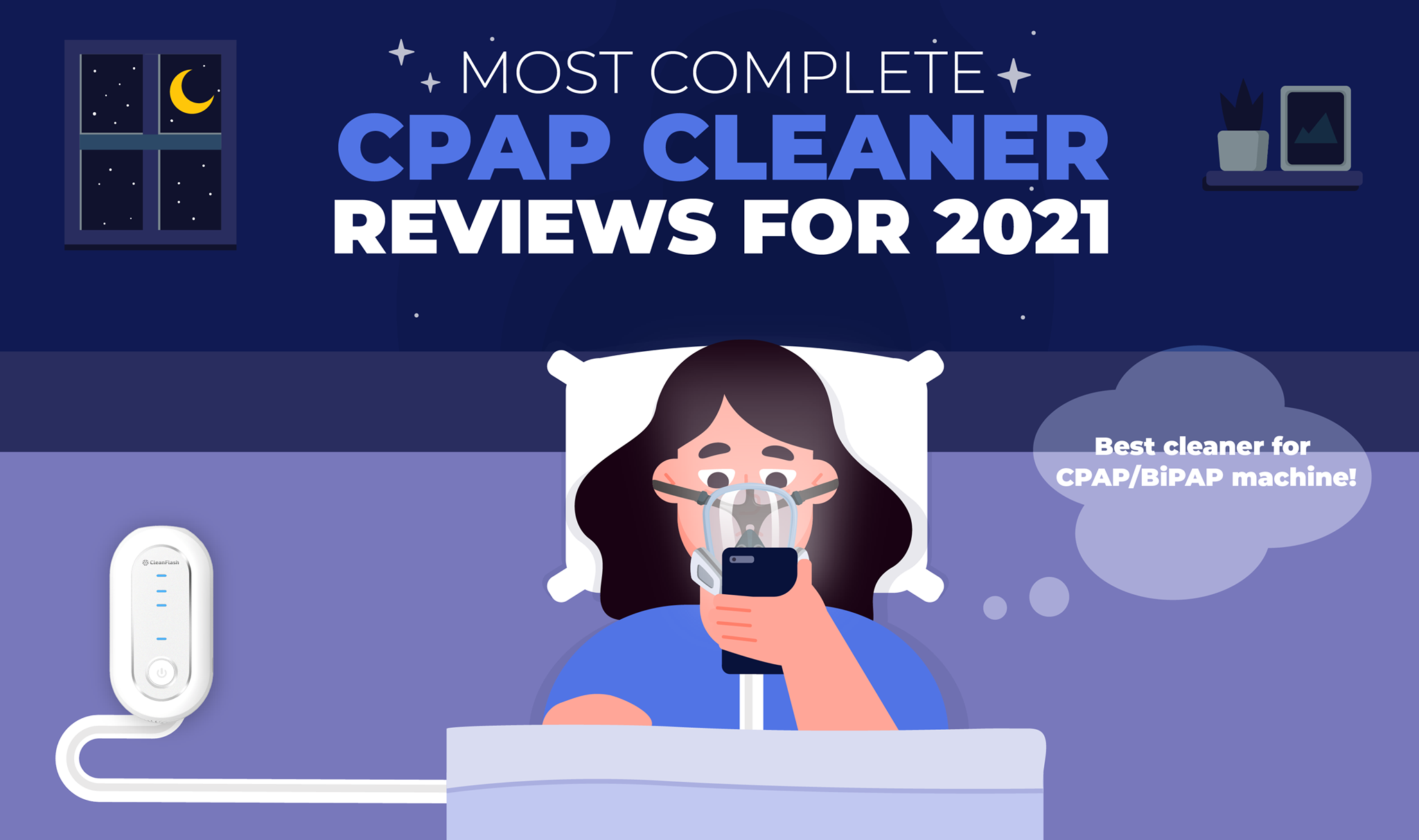 CleanFlash CPAP Machine Cleaners - Most Complete CPAP Cleaner Reviews For 2021