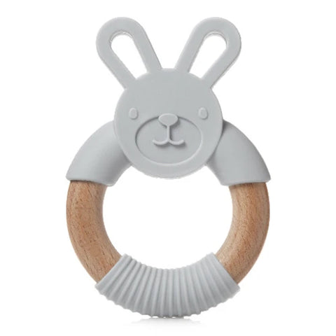 Wood & Silicone Bunny Teether