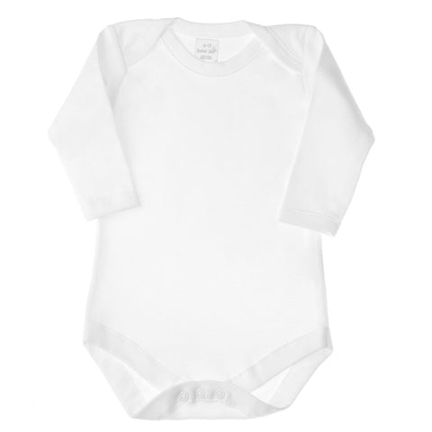 Basic White Long Sleeve Onesie