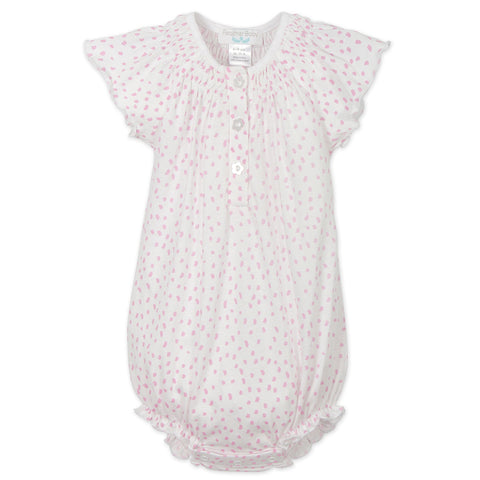 Angel Sleeve Bubble - Pink Dots