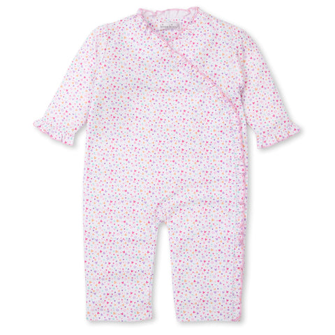 Pima Cotton Long Sleeve Romper - Mini Hearts