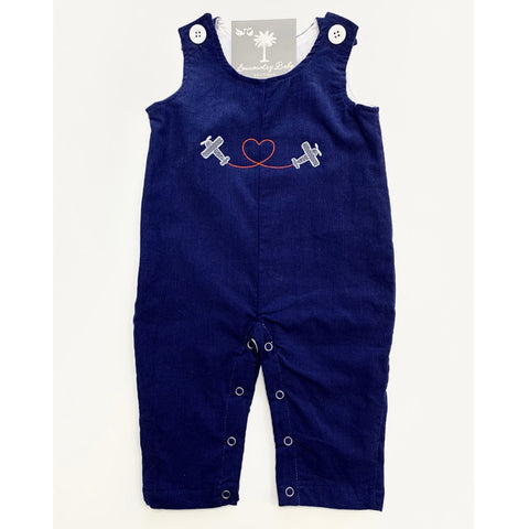 Blue Corduroy Overall - Airplane Heart