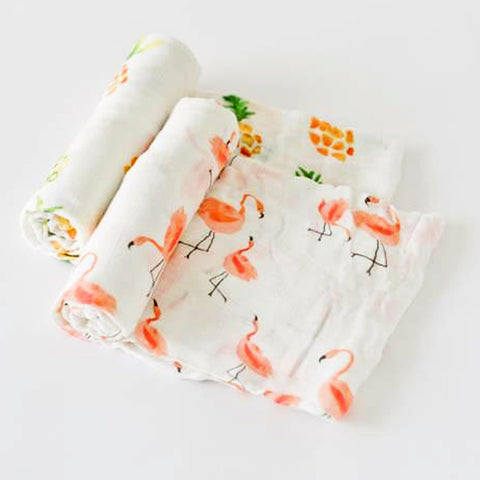 Little Unicorn Deluxe Swaddle Set - Pink Ladies