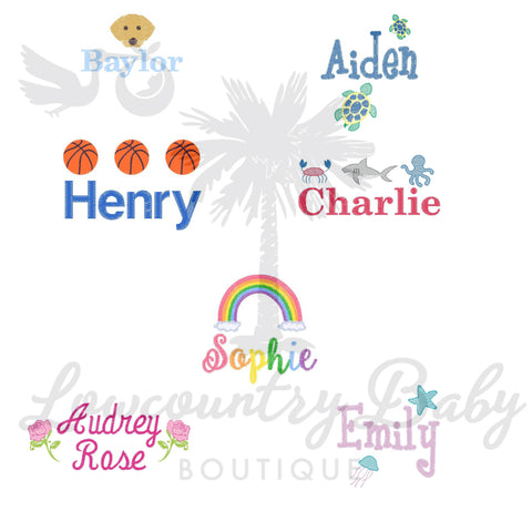Mini Motifs Name Samples