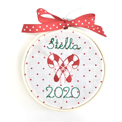 Custom Embroidered Christmas Ornament