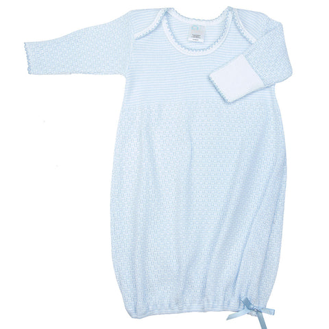 Paty Long Sleeve Infant Gown Pointelle Colored
