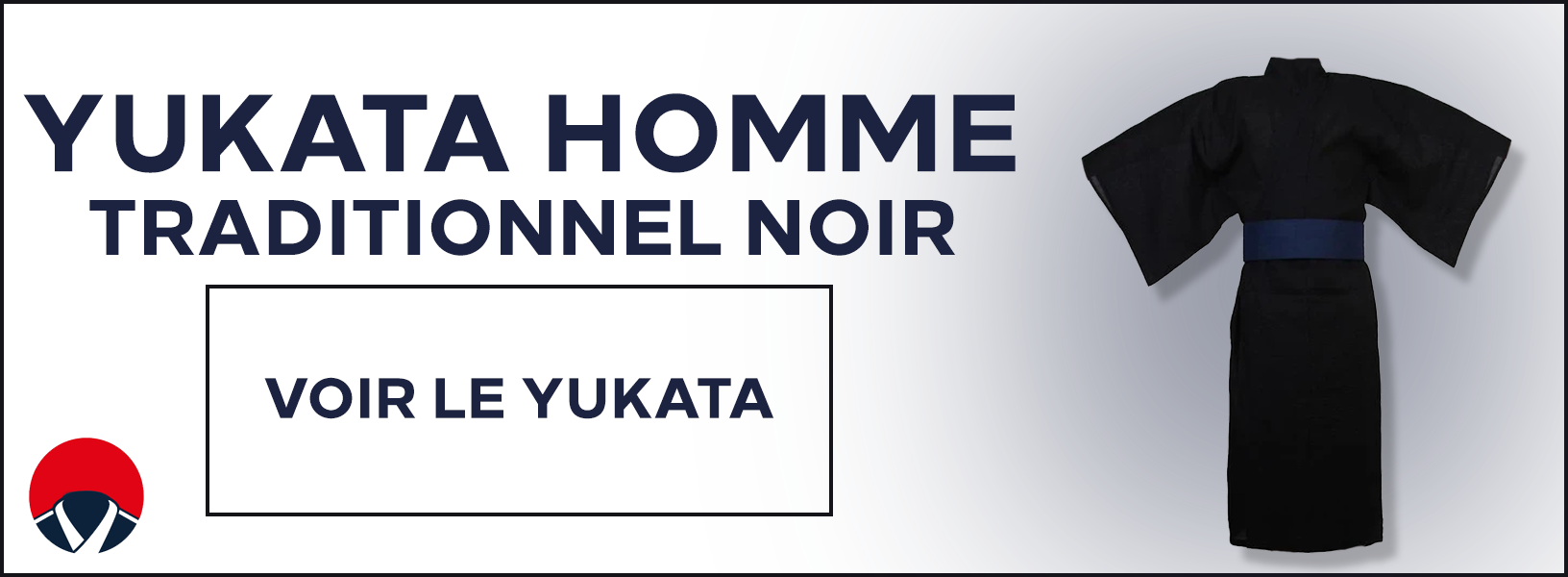 Yukata homme traditionnel noir