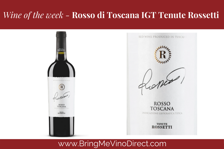 Our wine of the week starting 19 May 2020 is Rosso Di Toscana Tenute Rossetti