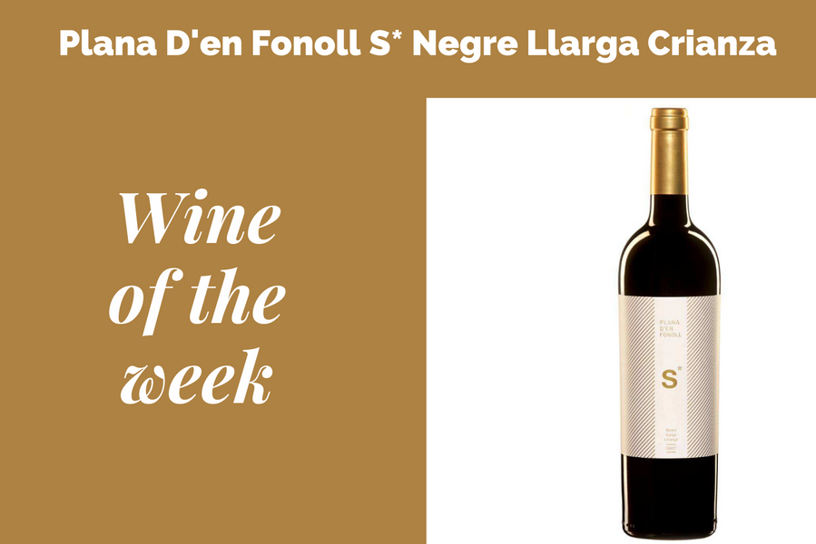 Our wine of the week starting 30 July 2020 is Plana D'en Fonoll S* Negre Llarga Crianza
