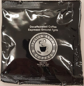 Italian Aroma Coffee E.S.E. Decaffinated Coffee pod - 150 pods of 7g each