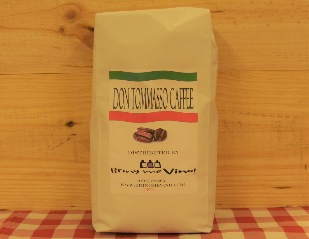 Don Tommasso Coffee Beans - Case of 6 bags of 1 Kg