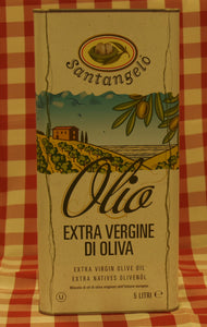 Santangelo Extra Virgin Olive Oil - Case of 4 cans of 5 litres each can