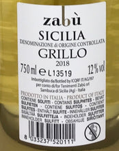 Load image into Gallery viewer, Grillo Sicilia DOC Zabù - Case of 6 bottles