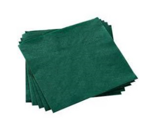Case of Paper Dinner Napkins 40cms X 40cms - Green - 16 packs of 125 Napkins per case