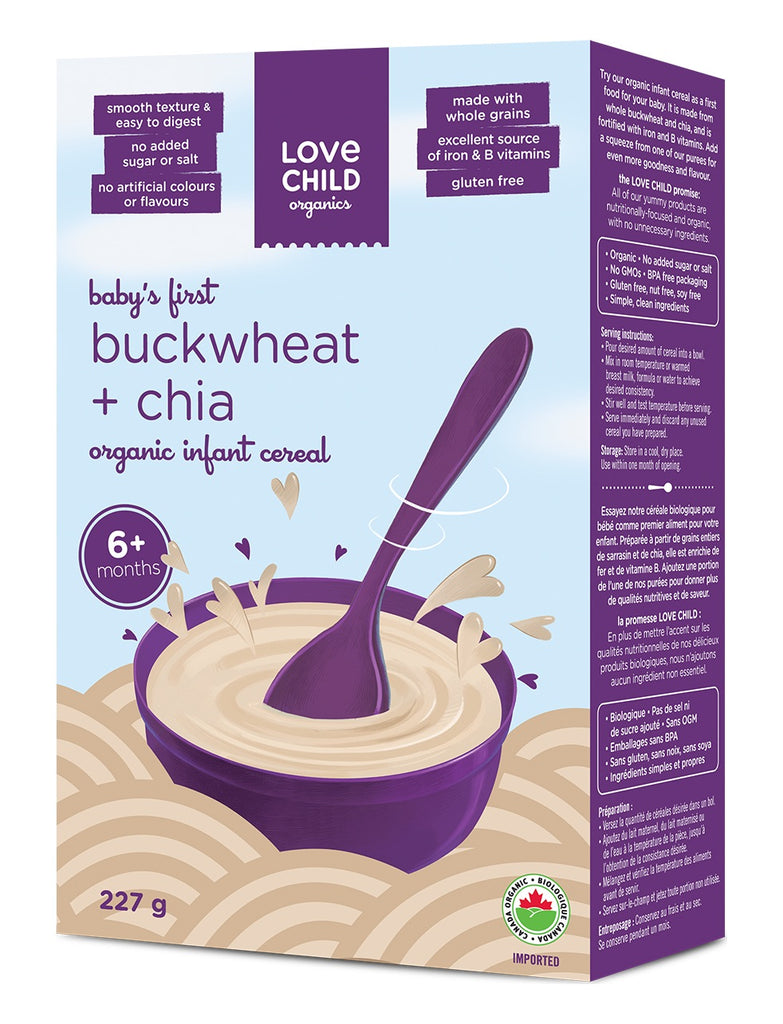 Infant Cereal: Buckwheat & Chia