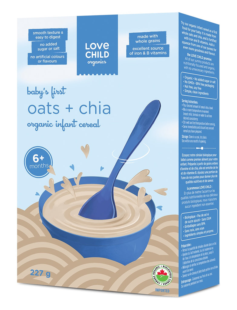 Infant Cereal: Oats & Chia