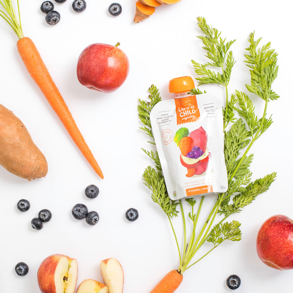 Superblends: Apples, Sweet Potatoes, Carrots & Blueberries