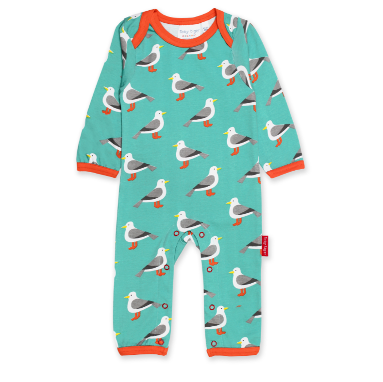 Blue and Seagull Baby Grow