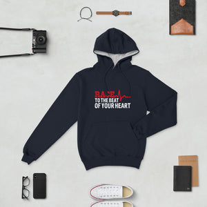 "Men's Champion Hoodie ""Race To The Beat Of Your Heart"""