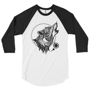 Men's 3/4 Sleeve Raglan Shirt Wolf
