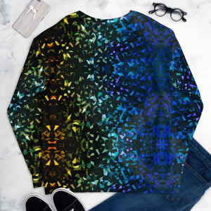 Sweatshirt Dark Green/Blue Abstract