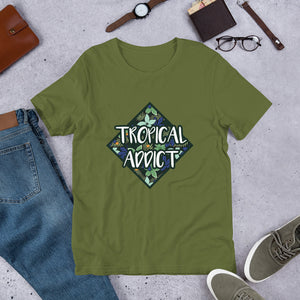 "Short Sleeve T-Shirt ""Tropical Addict"""