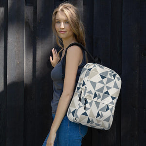 Unisex Backpack Blue/Neutral Triangles