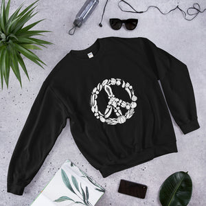 "Sweatshirt Vegan ""Peace"""
