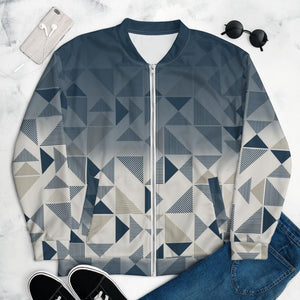 Bomber Jacket Blue/Neutral Triangles