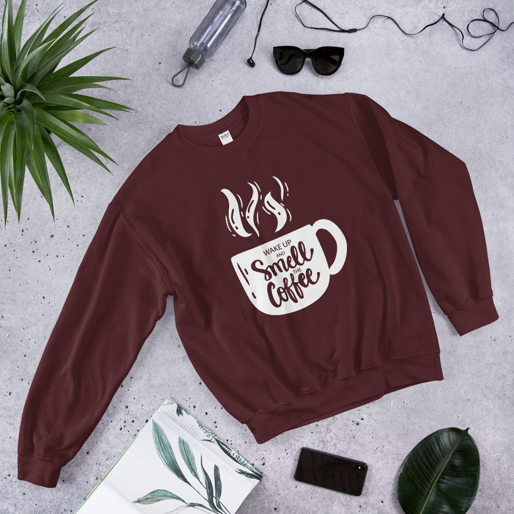 "Sweatshirt ""Smell The Coffee"""