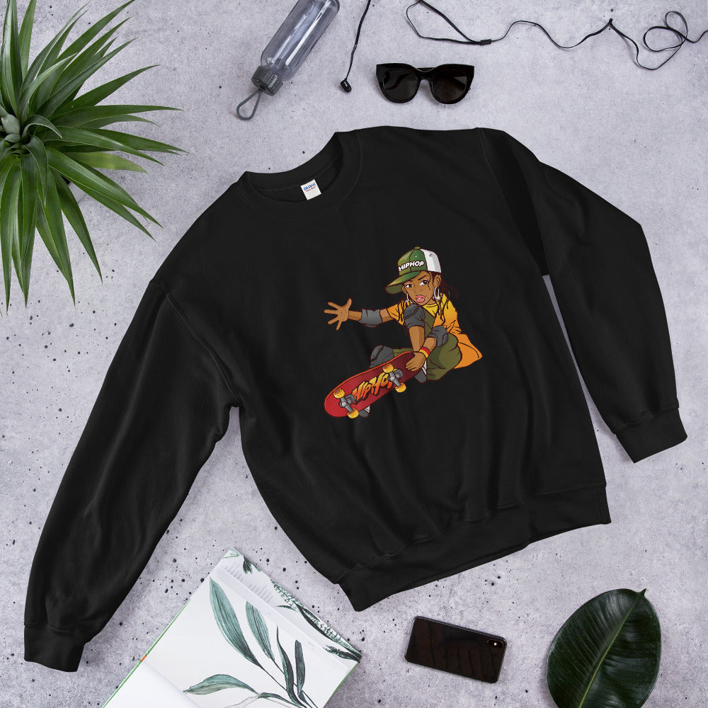 Sweatshirt Girl Skateboarder