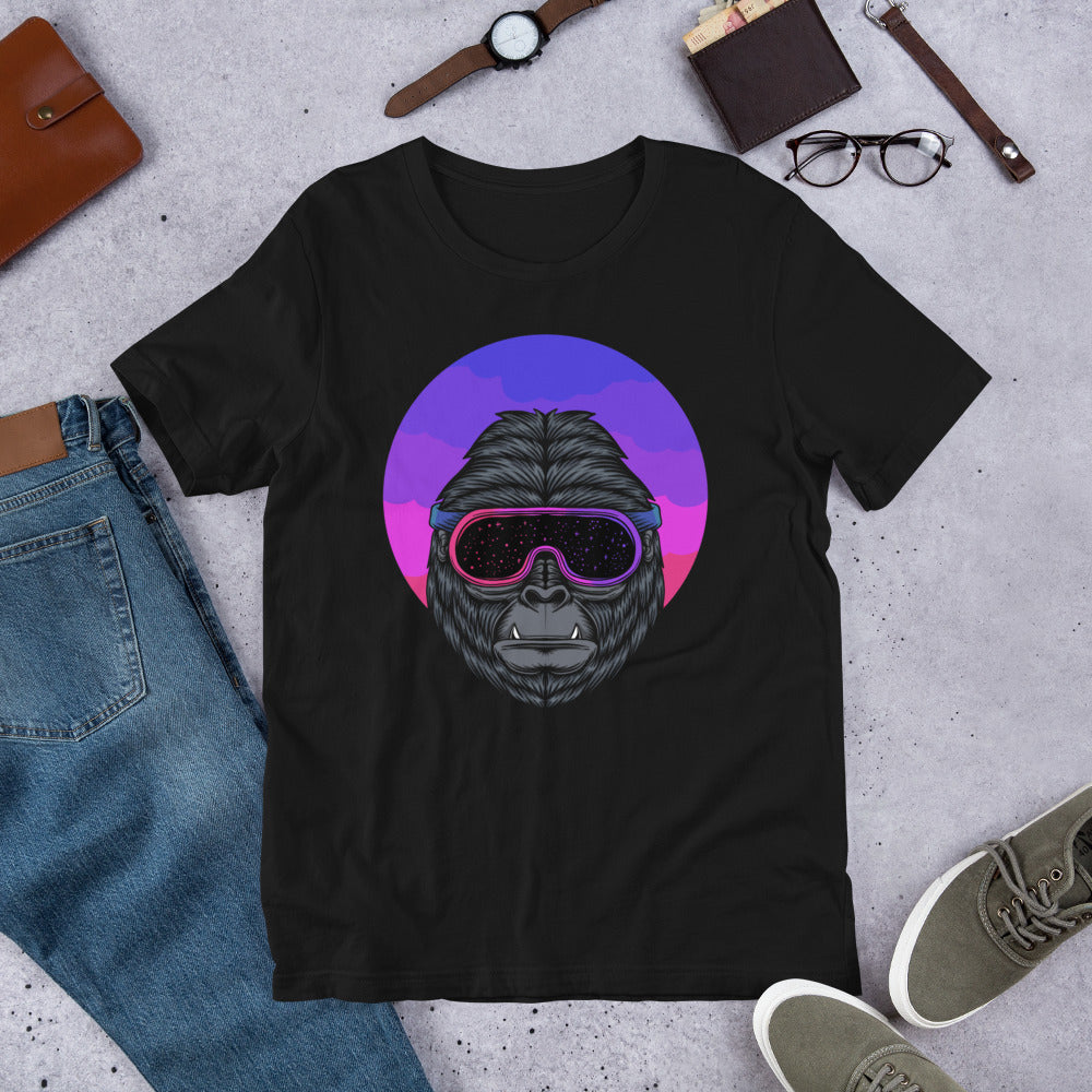 Short Sleeve T-Shirt Gorilla In Goggles