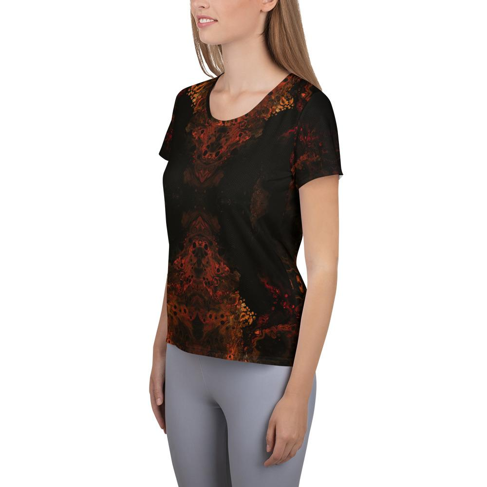 Women's Athletic Short Sleeve T-Shirt Lights of Mars