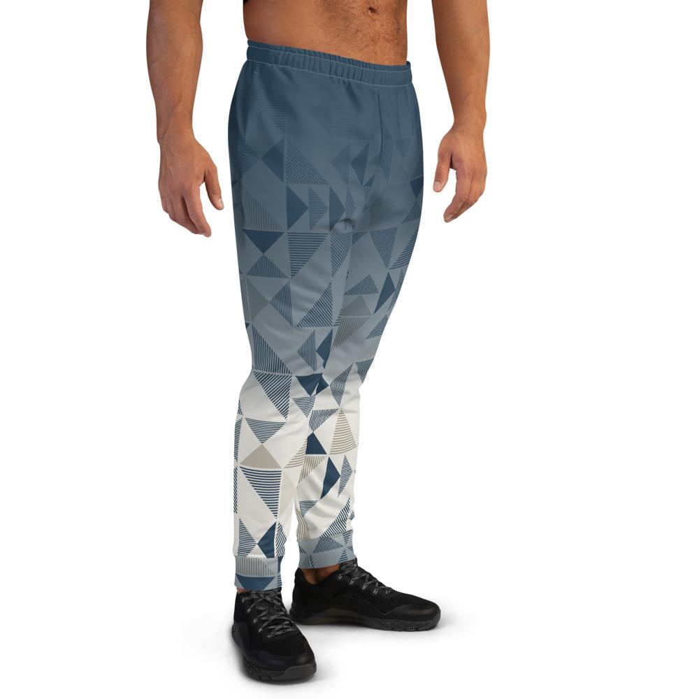 Men's Joggers Blue/Neutral Triangles