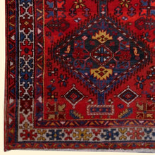 Load image into Gallery viewer, Heriz vintage rug 7 x 4 ft Red Blue Beige