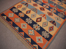 Load image into Gallery viewer, qashqai kilim rug 7 x 5 ft 13177