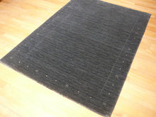 Load image into Gallery viewer, Loribaft Loom 4 x 6 ft Modern Designer Rug charcoal